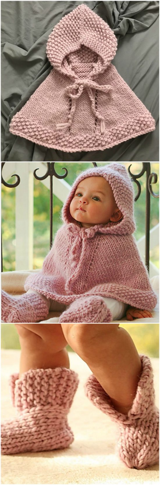 Knitted Hooded Baby Poncho Pattern Free The Whoot