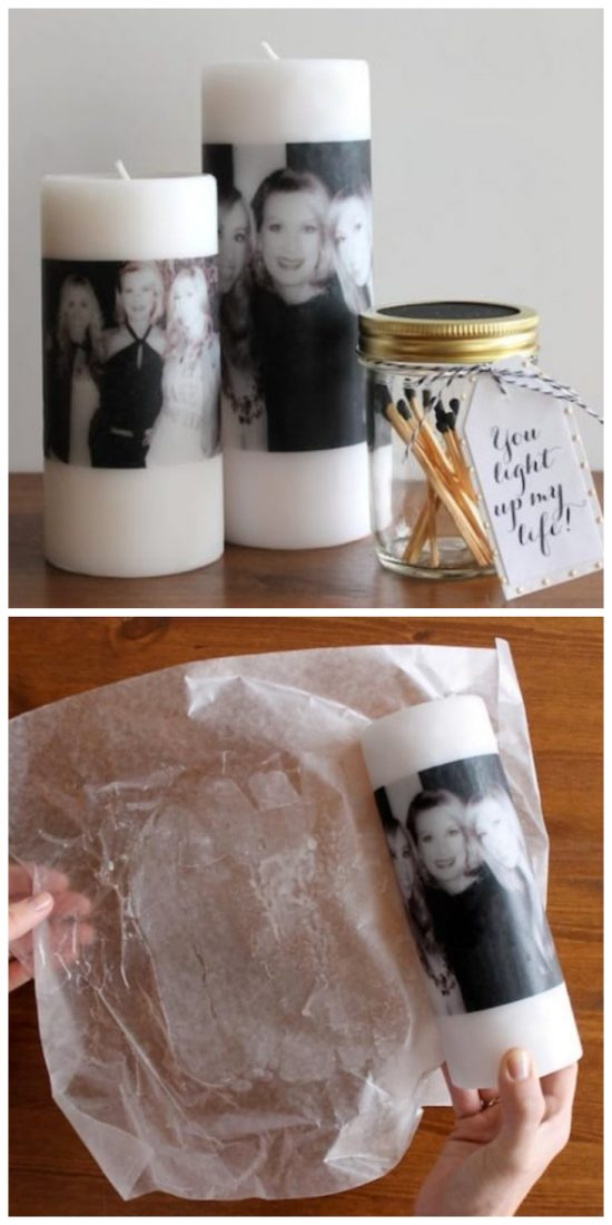 how to transfer images on candles
