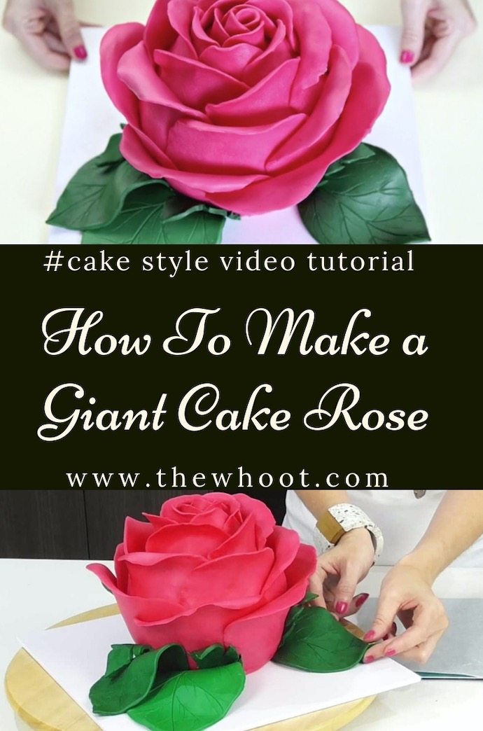 giant cake rose tutorial