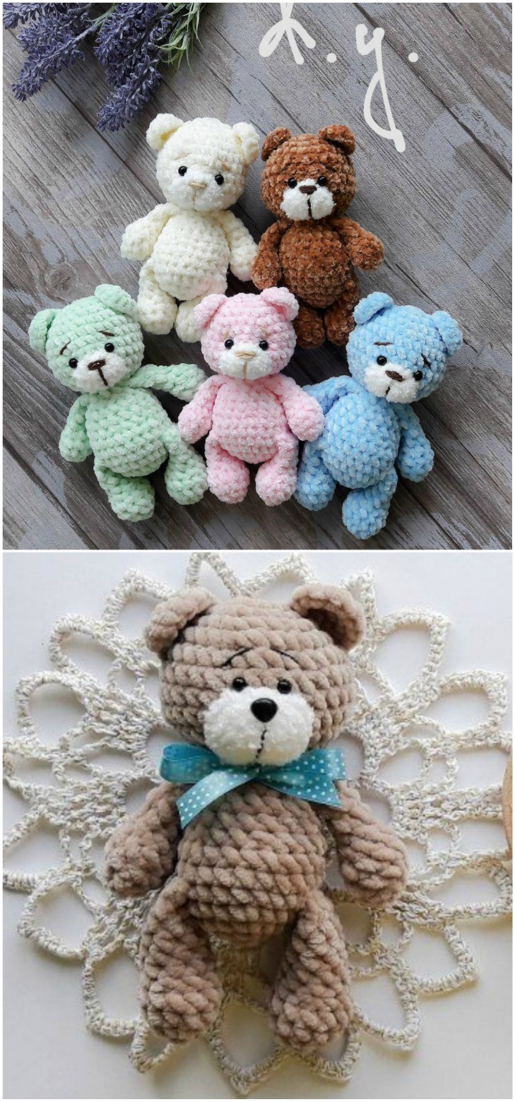 Amigurumi teddy bear from Amigurumi Cuties pattern | lilleliis | 1560x729