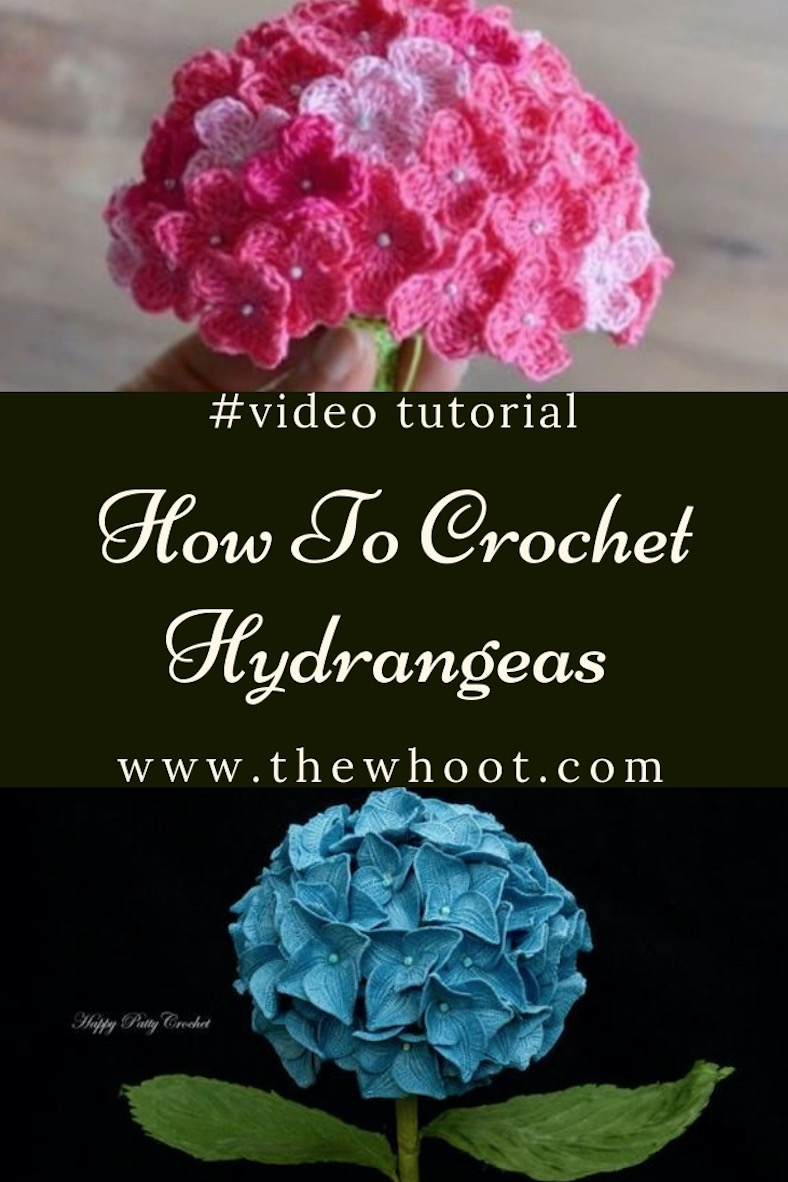 Crochet Hydrangea Flower Pattern Free Video Tutorial