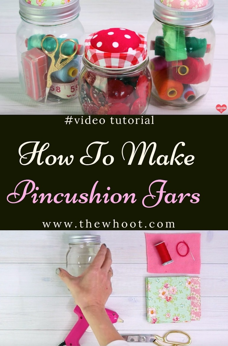 how to make pincushion jar