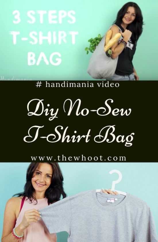 no sew tshirt bag video