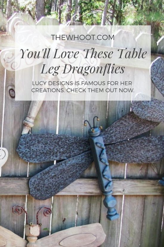 Diy Table Leg Dragonfly Garden Art Easy Video Tutorial