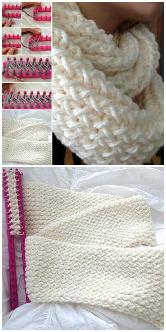 Beautiful Knitted Loom Scarf Patterns You Ll Totally Love The Whoot