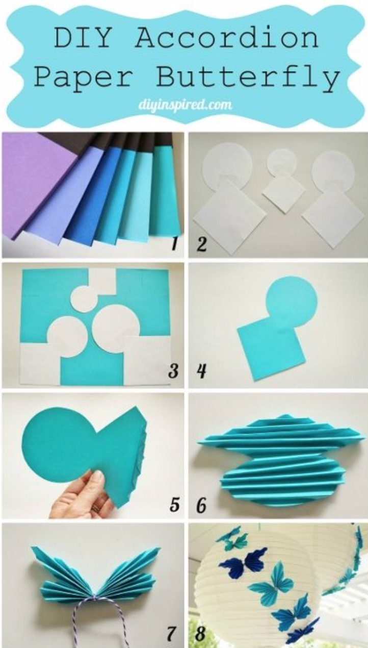 Paper Butterflies Diy Step By Step The Whoot