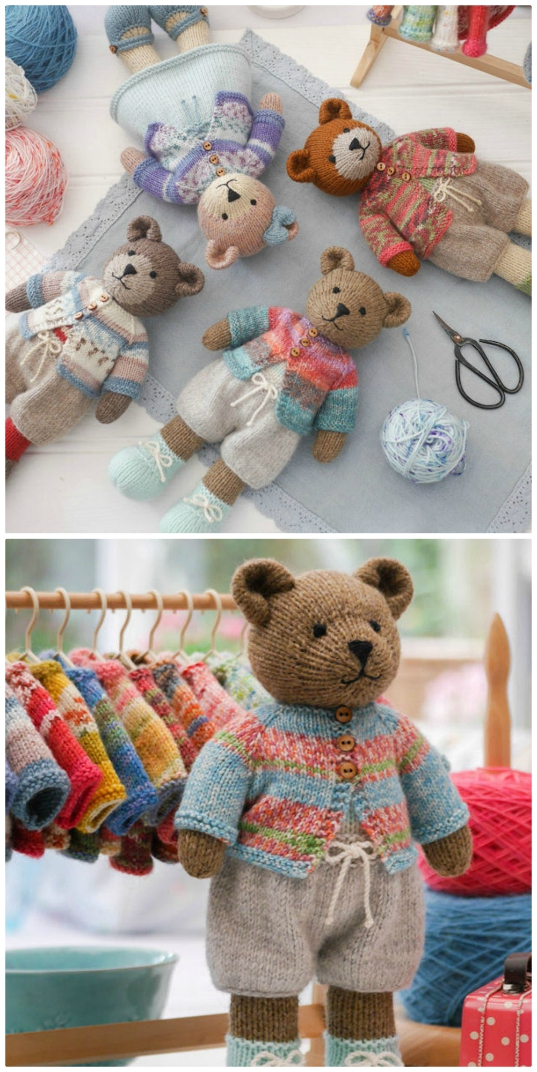 Knitted Teddy Bear Patterns You'll Love - The WHOot