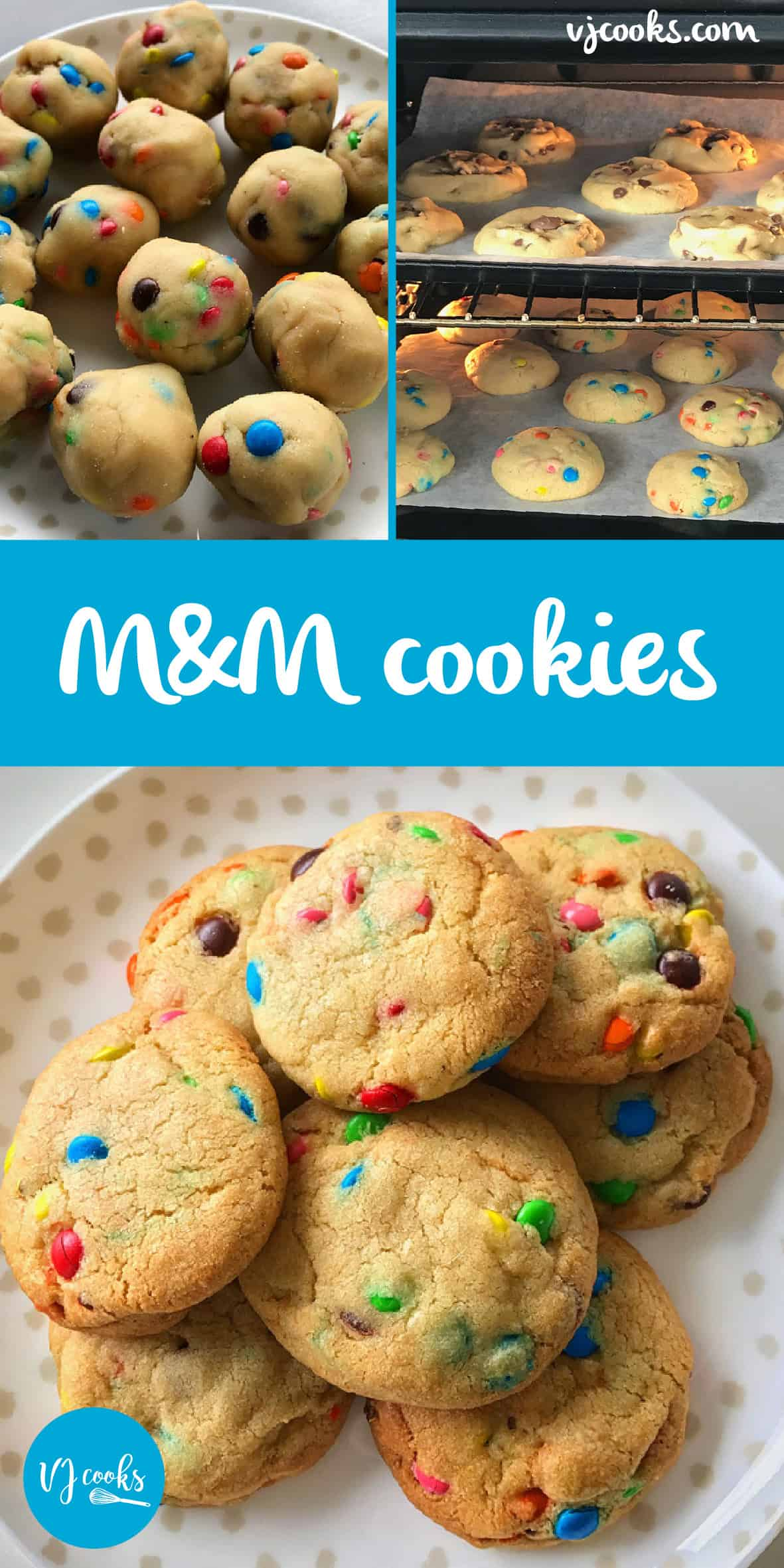 big batch m&m cookies