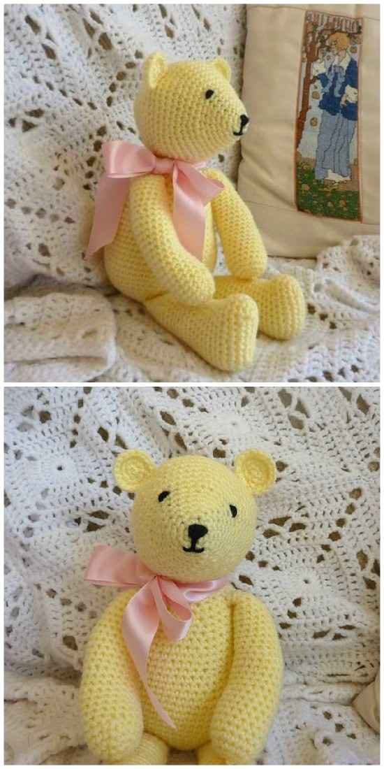 Free Amigurumi Bear Toy Softies Crochet Patterns | Crochet animal ... | 1100x550