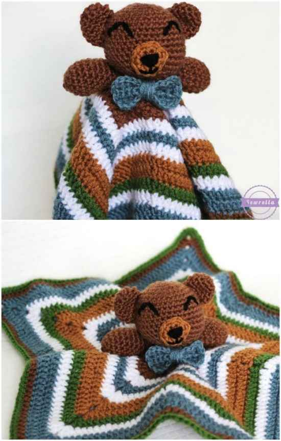 17 Inspiring Ideas to Crochet a Teddy Bear Pattern - Patterns Hub | 863x550