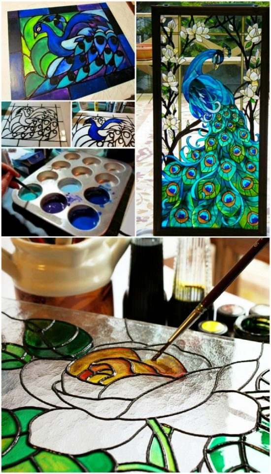 How To Make Faux Stained Glass With