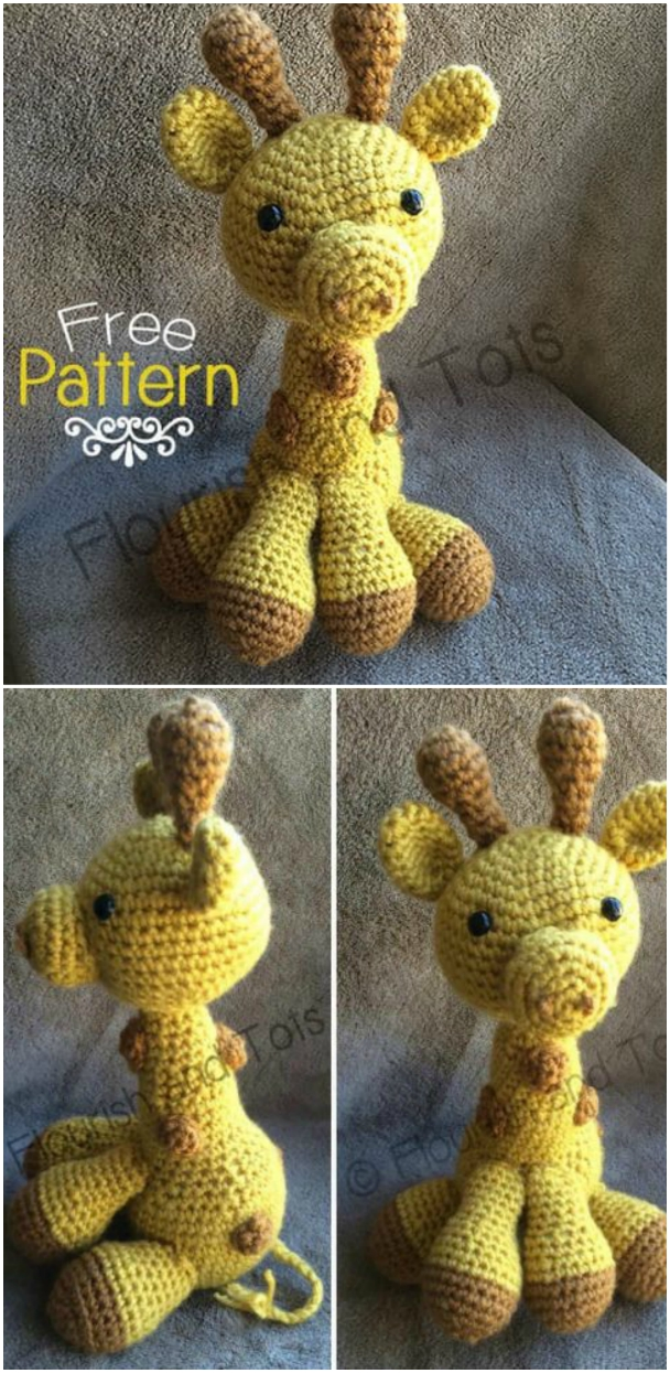 32 Free Crochet Giraffe Amigurumi Patterns ⋆ DIY Crafts | 1245x608