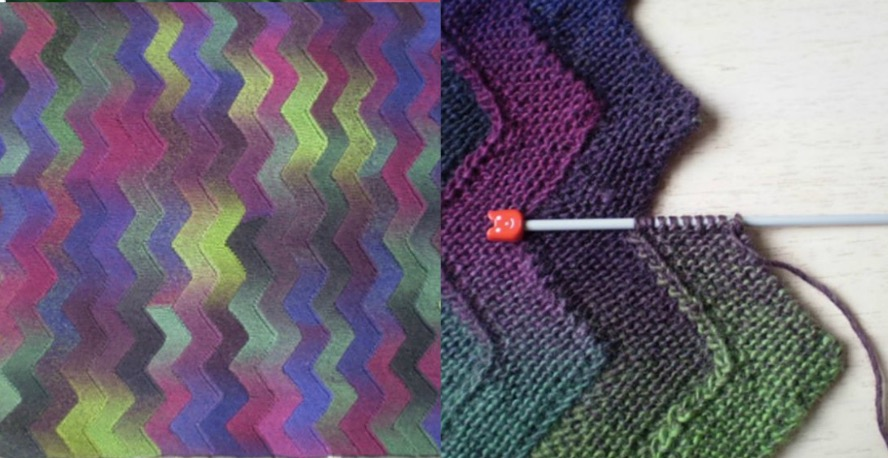 Zig Zag Knitted Blanket Free Pattern The Whoot