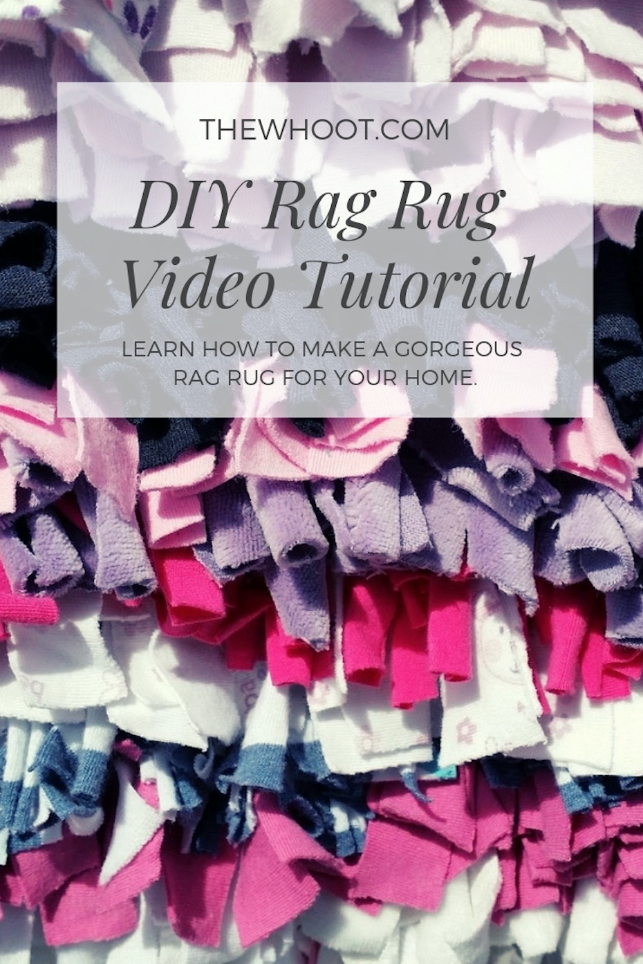 Easy Rag Rug Diy Watch The Quick Video Tutorial