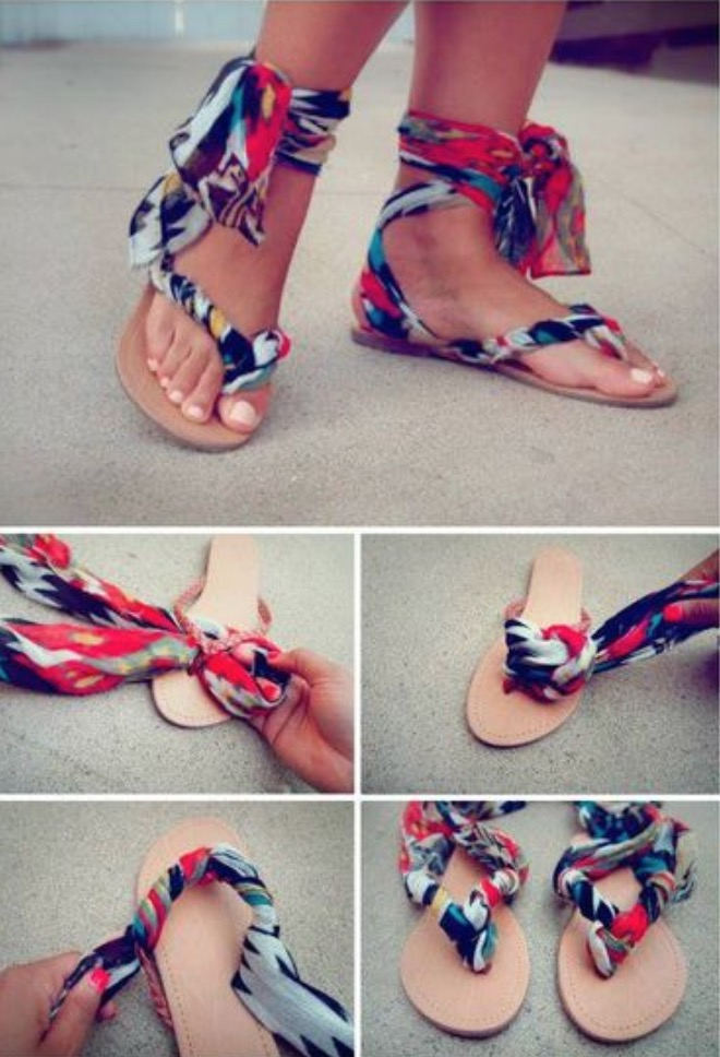 73277a3c9 We love these stylish Scarf Ankle Flip Flops ...