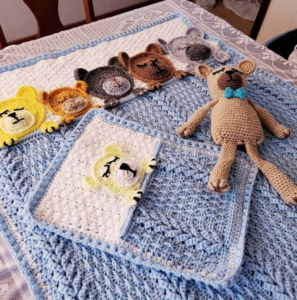 Crochet Spot » Blog Archive » Crochet Pattern: Teddy Bear Security ... | 1044x1034