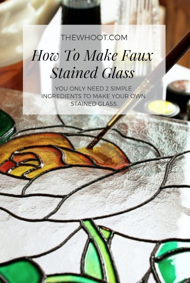 How To Make Faux Stained Glass Using 2 Ingredients The Whoot