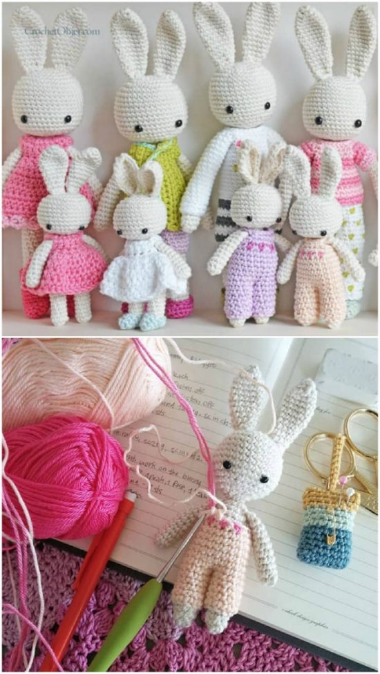 Free Pattern] Adorable Little Heart Bunnies In All Colors - Knit ... | 975x550
