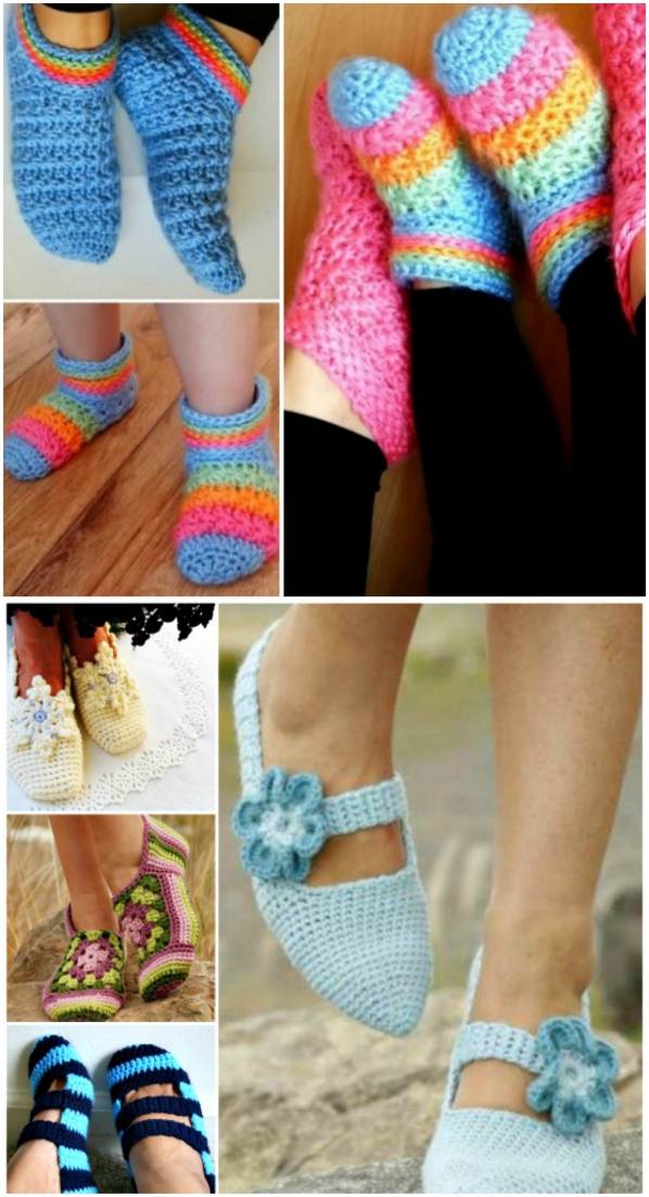 7f90f542acdfb Our Most Favorite Crochet Slippers Pattern Ideas | The WHOot