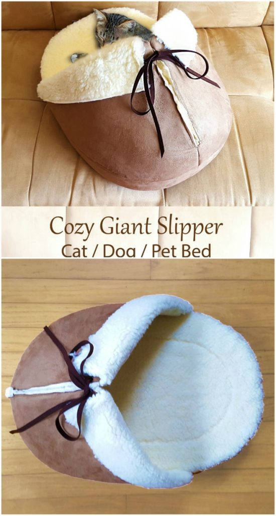 Giant Slipper Cat Bed