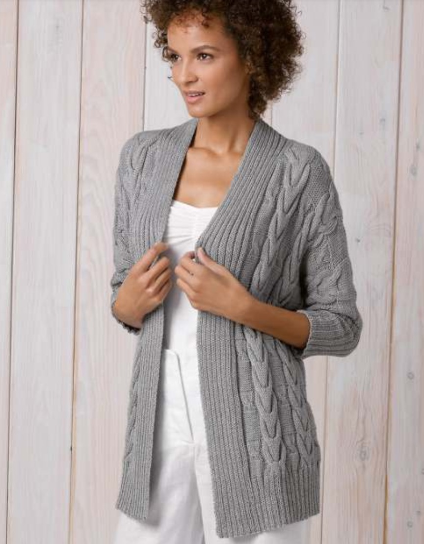 Free Knitted Cardigan Pattern For Ladies Pinterest