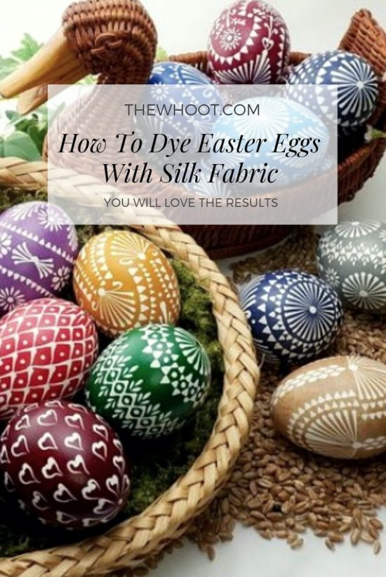 how to dye easter eggs with silk fabric