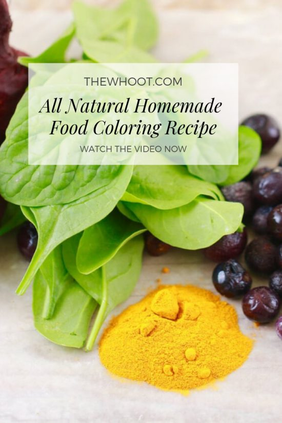 How To Make All Natural Homemade Food Coloring | The WHOot