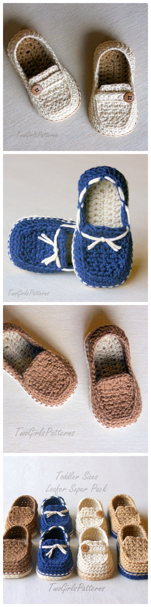 crochet toddler loafers