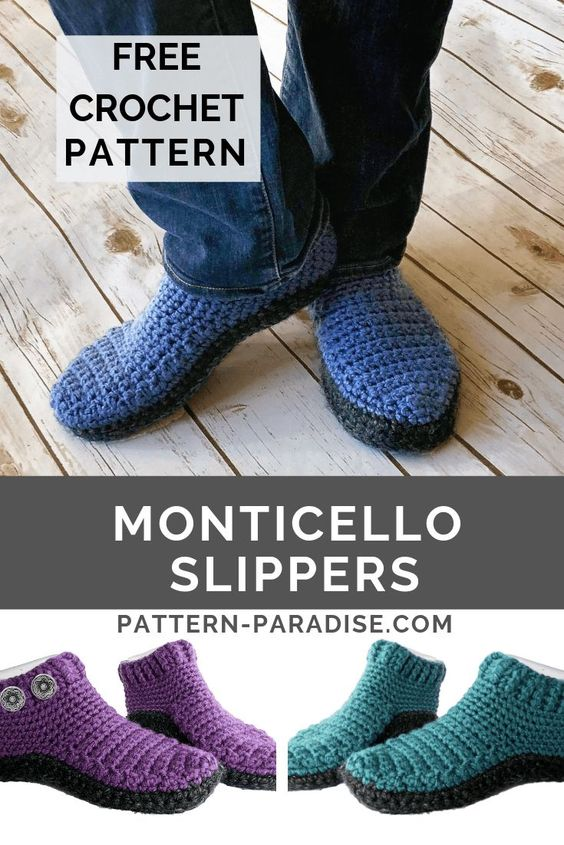 Crochet Slippers Free Patterns That Are Fun To Make The Whoot