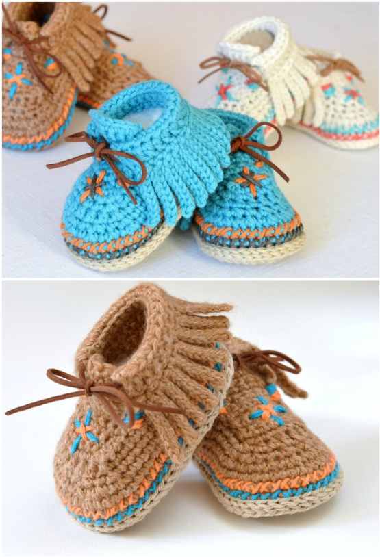 Baby Moccasin Boots Crochet Pattern