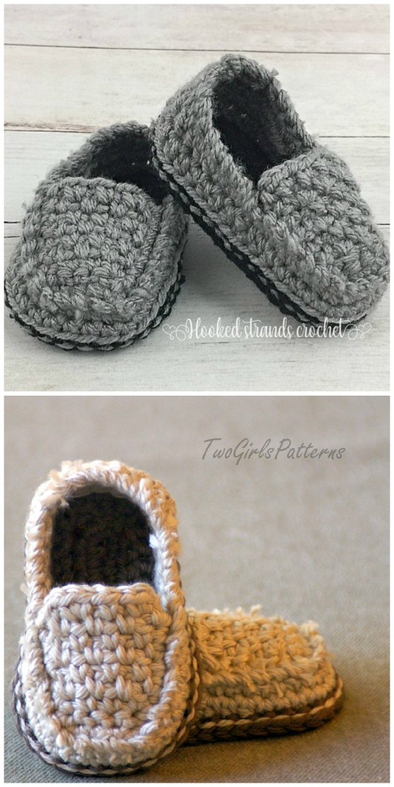 Crochet Baby Loafers Patterns You'll