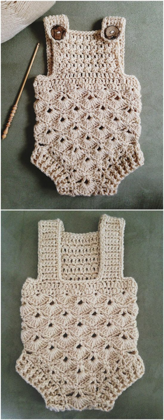 Crochet Baby Romper Pattern Ideas The Whoot