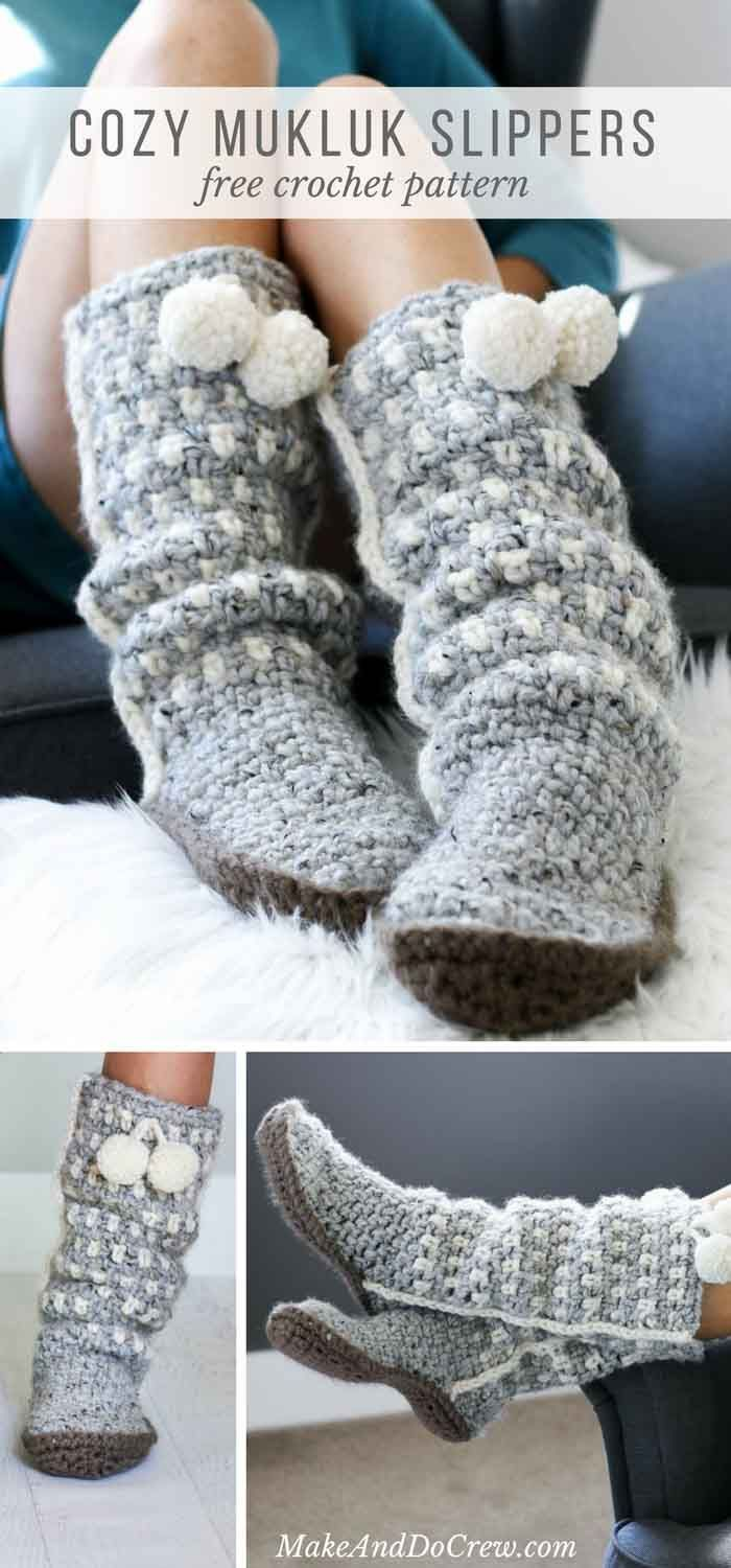 Crochet Slippers Free Pattern Ideas You Ll Love The Whoot