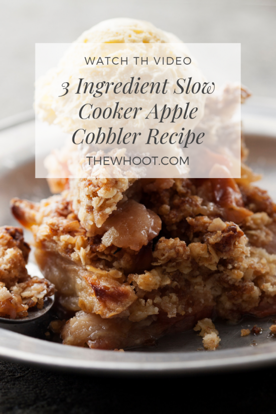 3 ingredient slow cooker apple cobbler