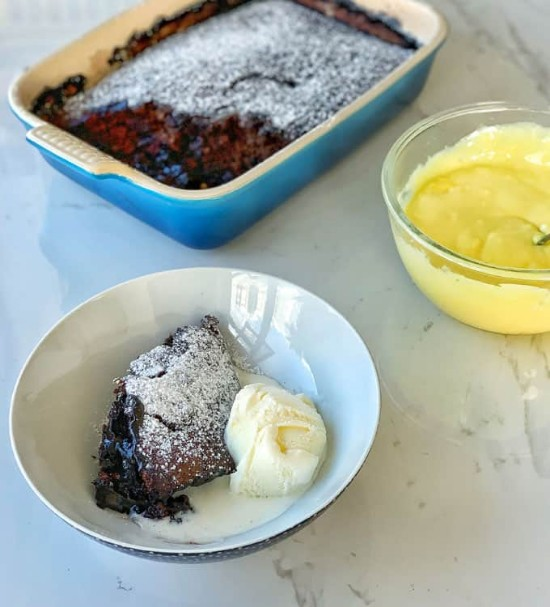 chocolate banana self saucing pudding