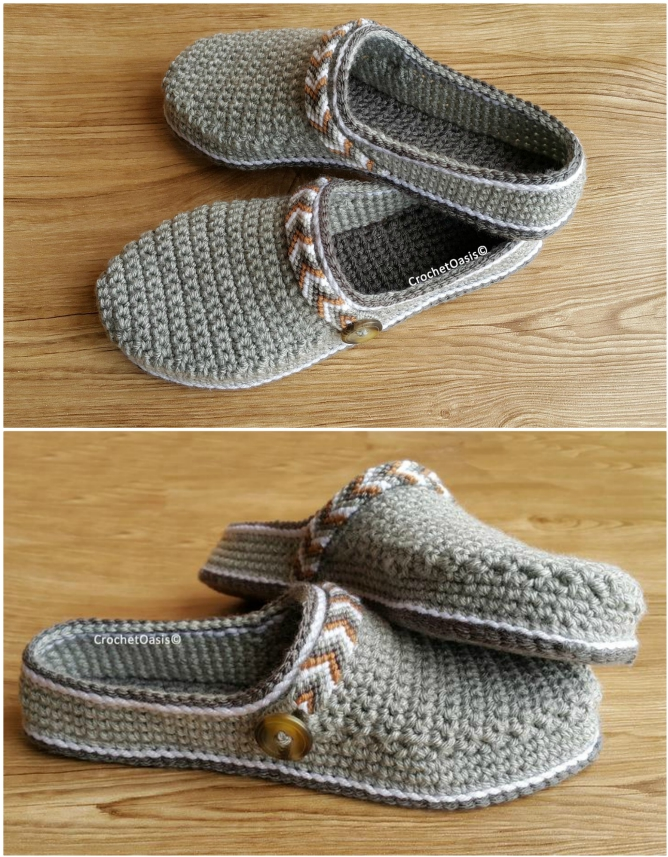 crochet clog slipper pattern
