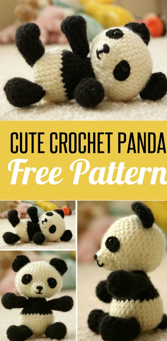 Crochet Panda Bear Amigurumi Patterns- Amigurumi #Panda; #Crochet ... | 1132x554