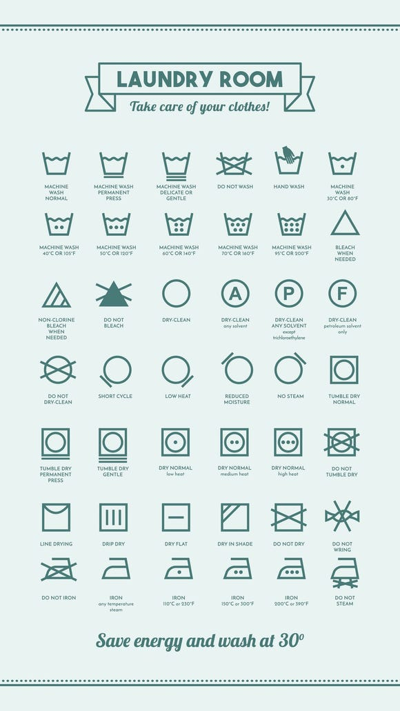 laundry care symbols and their meanings
