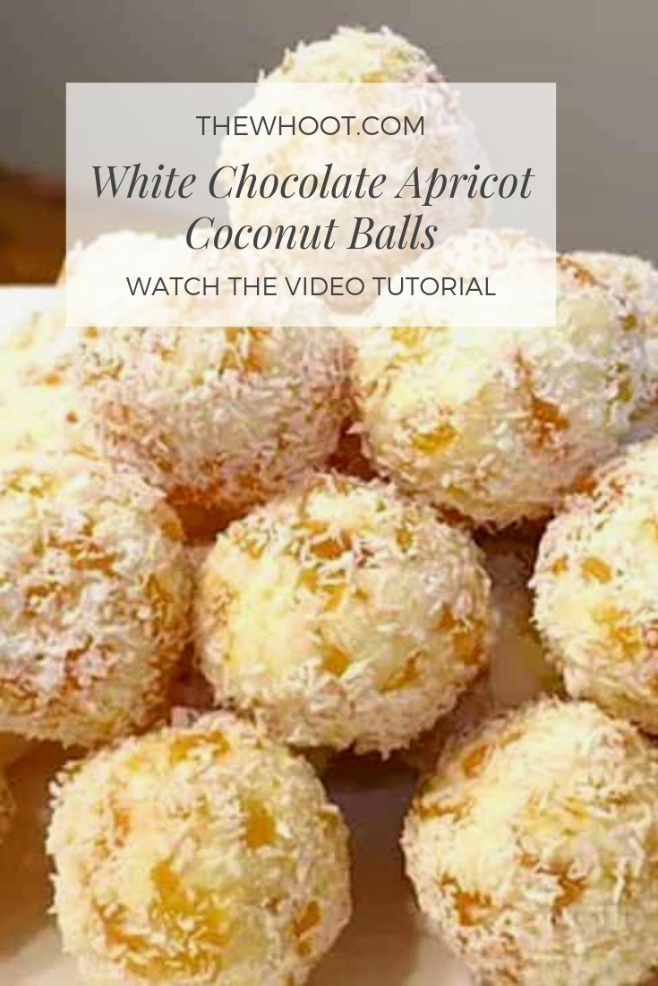 white chocolate apricot coconut balls