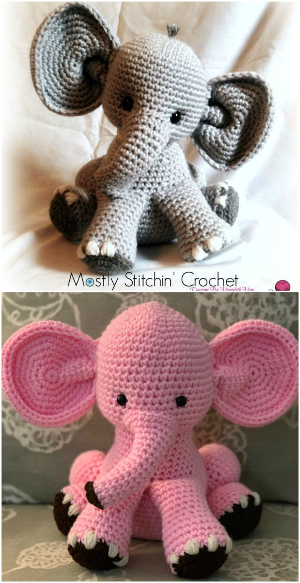 The Sweetest Crochet Elephant Patterns To Try | The WHOot | 1173x604
