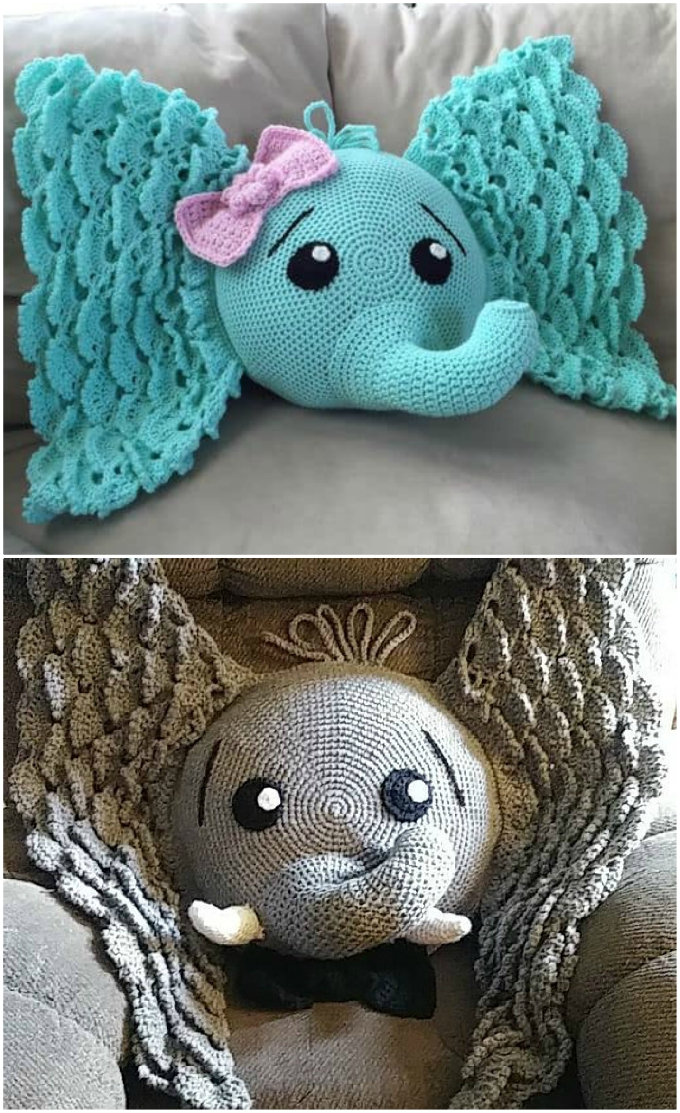The Sweetest Crochet Elephant Patterns To Try | The WHOot | 1113x680