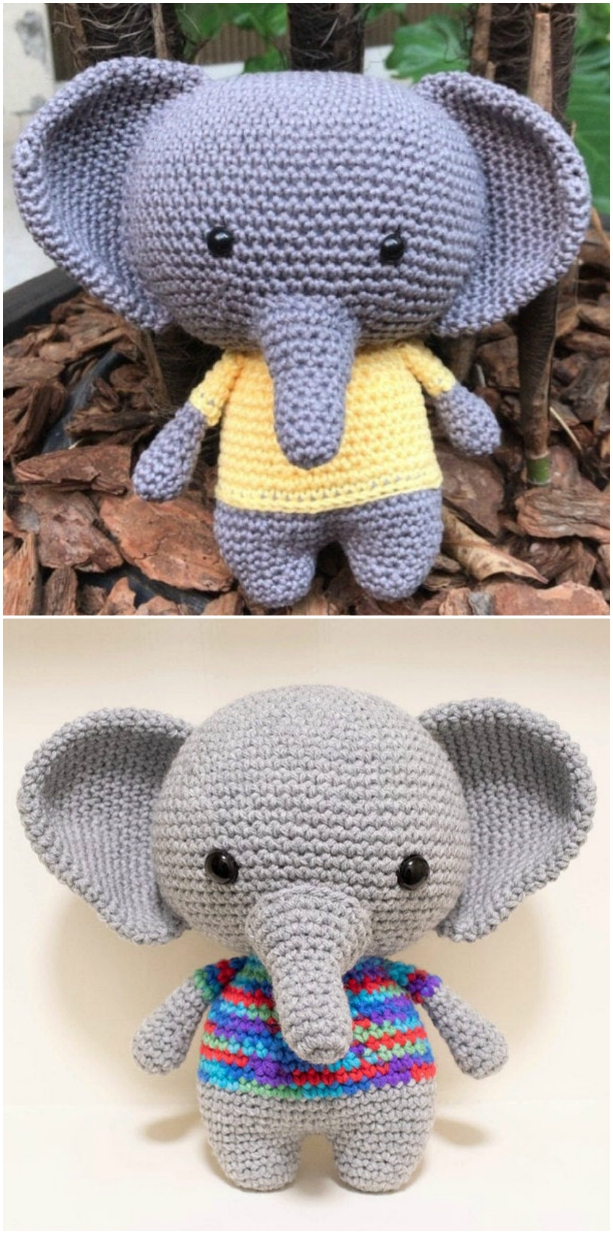 Crochet Elephant Amigurumi Easy Video Instructions | 1234x613