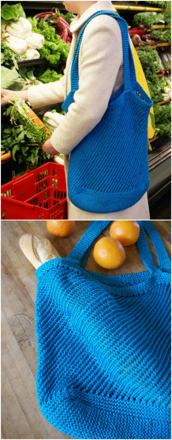 knitted market bag free pattern