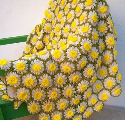 crochet daisy flower blanket pattern