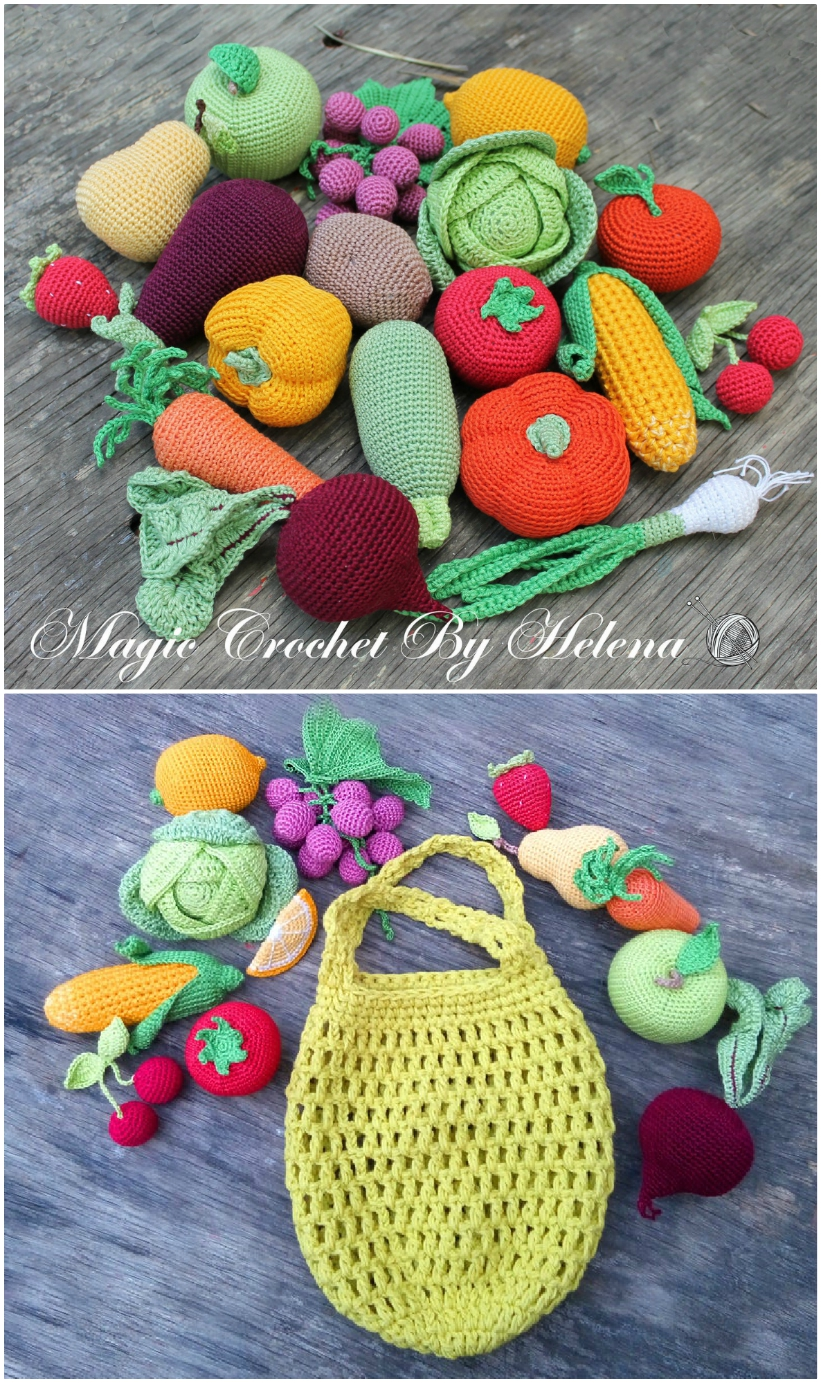 Admire These Adorable Fruits And Vegetables [Free Crochet Patterns ... | 1383x821