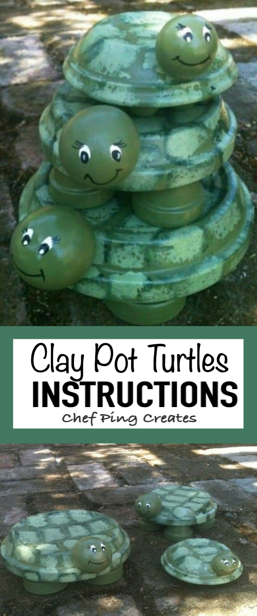 clay pot turtles instructions