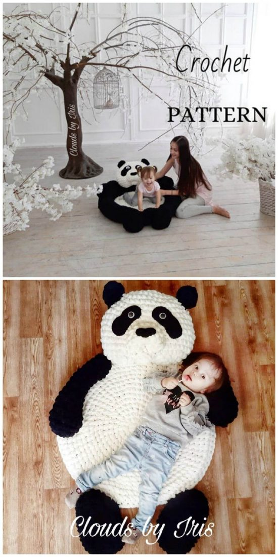Hand Crochet Animal Rug Patterns Uncorn Panda And More The