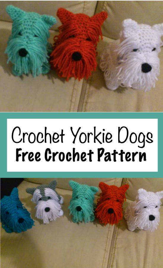 CHANNEL CROCHET: Yorkshire Dog Amigurumi Tutorial | Yorkshire hund ... | 900x550