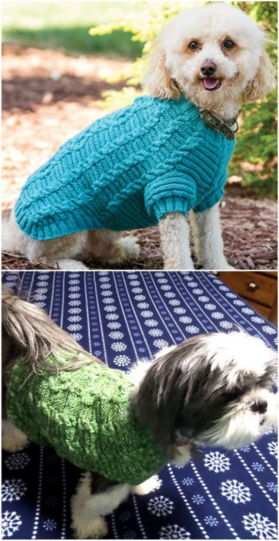 Knitted Dog Sweater Patterns You'll Love   The WHOot