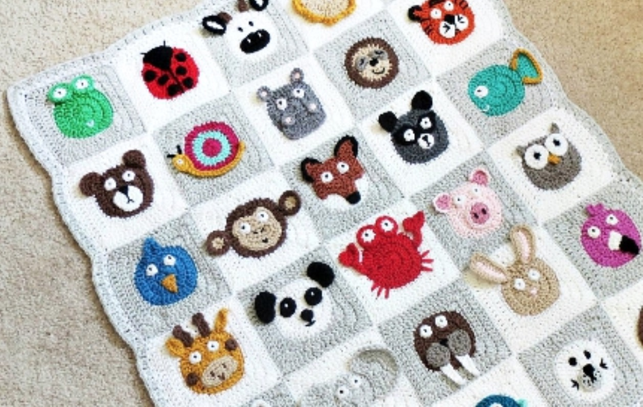 Crochet Zoo Baby Blanket The Whoot